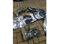 Kids Moto x boots and outfit