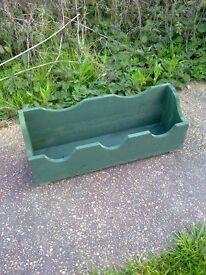 Home made wood garden planter