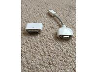 Apple mini dvi- vga adaptor and dvi to vga adaptor
