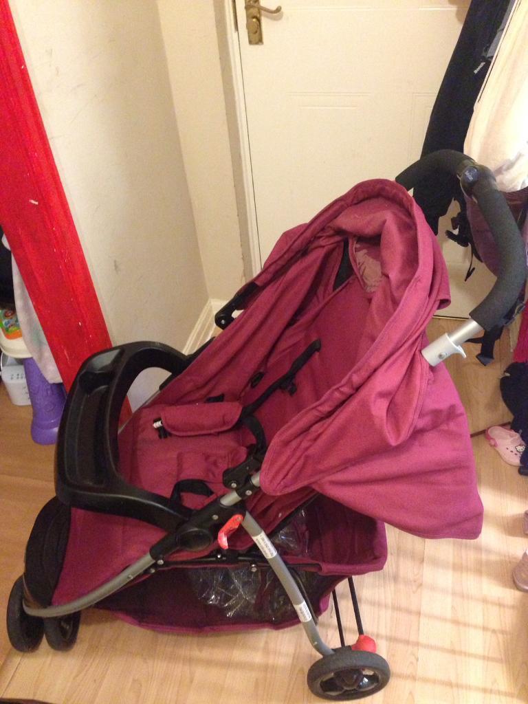 Purple stroller