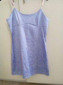Lovely short lilac fitted dress. Fit 10/12. £5.