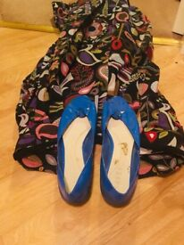 Ravel blue peeptoe shoes