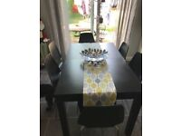 Ikea extendable table and 6 chairs