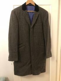 Fast Sale: Jack Wills Grey Herringbone Overcoat - Large