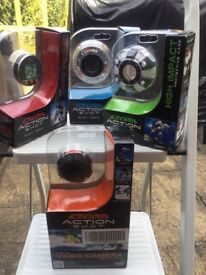 Action shot camera (similar to go pro) and accesories
