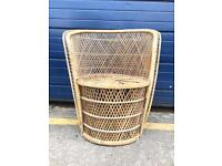VINTAGE WICKER BEDROOM CHAIR - ANTIQUE VINTAGE RETRO