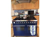 Brittania blue range cooker 100 cms - gas hob and electric double oven