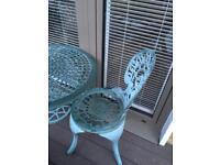 Cast iron aluminium garden table and chairs