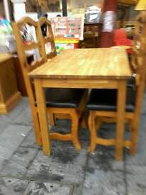 Solid wood table plus 4 chairs
