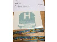 2 adult camper jam tickets and VW vehicle pass £60