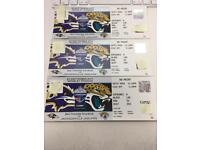 NFL WEMBLEY - BALTIMORE RAVENS vs JACKSONVILLE JAGUARS 3 tickets 300£(100£x3)