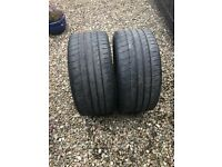 MICHELIN PILOT SPORT TYRES FOR SALE 265/40X18 NEARLY 3MM