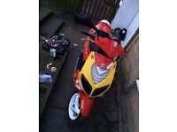 Peugeot speed fighter 2 50cc moped mo ped