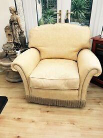 Gold chair excellent quality fully sprung with feather cushions