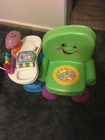 Fisher Price sit down chair with book