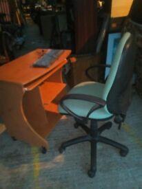 wooden pc desk