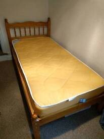 Free to collect Pine single bed