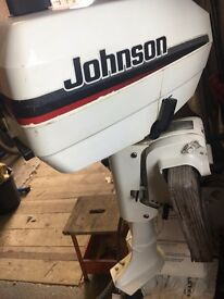 Johnson 4.0 outboard, (2 stroke 2 cylinder), very clean. Forward/Neutral, service log.