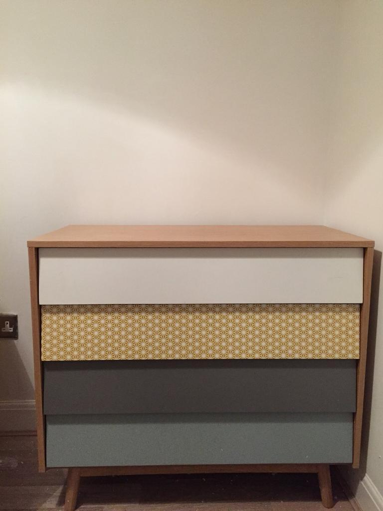 Retro coloured chest of drawers