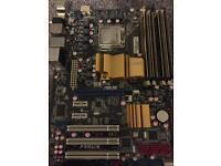 Asus P5QL-E + 8gb PC2 8500 Gold series ram