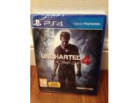 Uncharted 4 PS4 (BRAND NEW AND STILL SEALED)