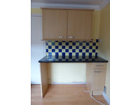 Good quality kitchen units and worktop.