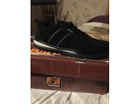 Bartium steel toe trainers size 10 new in box black wrong size brought by my other half