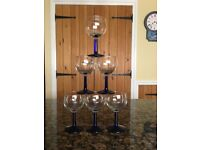 Set of 6 wine glasses for sale - good condition, just £5!