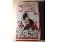 GLENN CLOSE 101 DALMATIANS VHS TAPE