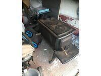 Wood burning stove Large with heatplates