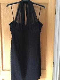 Ladies Black Party Dress Size 20 (Wallis)