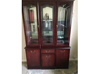 Mahogany wall unit emasculate . Must collect free also three piece suite free