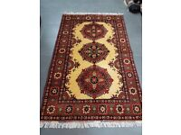 Authentic Afghan Rug - Hand Made with 100% Wool - 159 x 100cm
