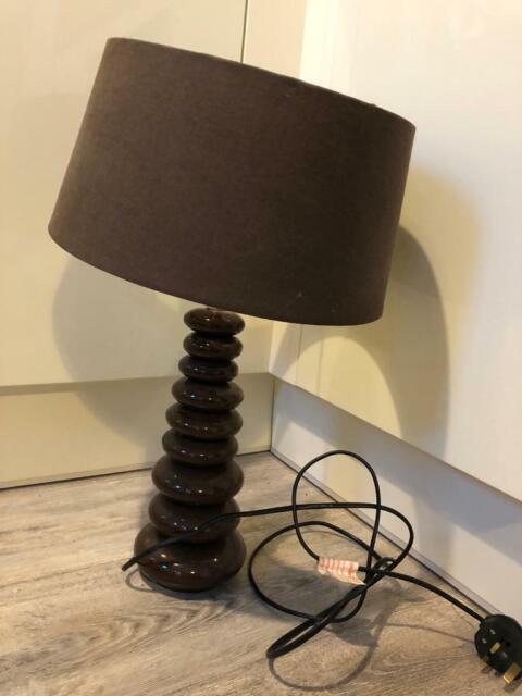 Brown Table Lamp Pebble Look Base In Plymouth Devon Gumtree