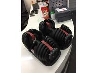 Brand new Bowlex 5-52 2-24kg adjustable dumbbells weights