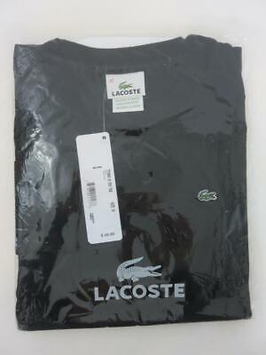 New LACOSTE Women's Long Sleeve T-Shirt Black Noir Size 42 / 10 NWT