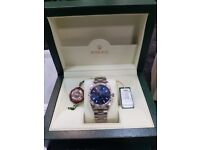 Rolex air king 2006 34mm blue Arabic dial all paperwork included