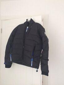 Black mens Superdry scuba jacket