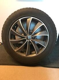 "4 x 17"" Wolfrace Alloys with Continental Winter Tyres"
