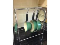 Vintage Green Le Creuset with Stand