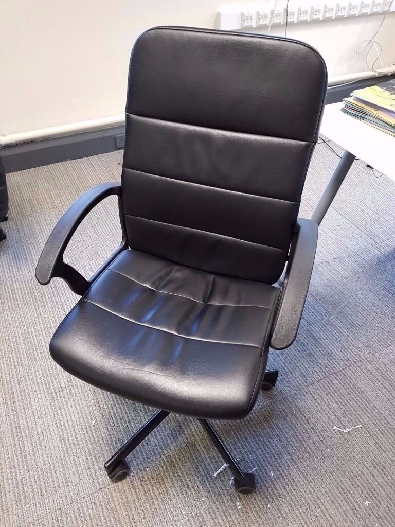 Ikea Torkel Swivel Office Chair Black With Armrests