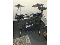 Traps Electronic Mesh Drumkit. Full working order . no kick pedal or stool