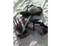 Football boots and gloves