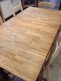 Oak wood block table , Ikea