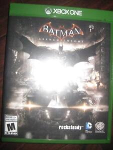 Batman: Arkham Knight for Xbox One Game System. Battle in Gotham City with Penguin, Harley Quinn. Return of Scarecrow