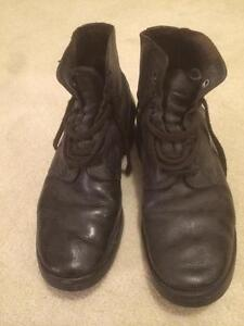 Sturdy Black Leather Boot - PRICE REDUCED