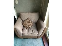 Two arm chairs and a sofa bed looking for a new home