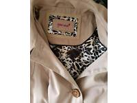 Nearly new ladies Size12 posh smart trench coat