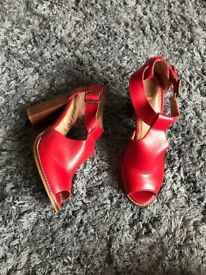 Clarks Real Leather Women's Heels Size 5