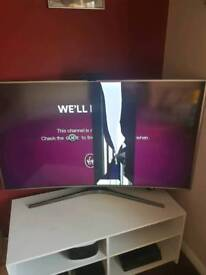 Samsung 55inch curved TV.